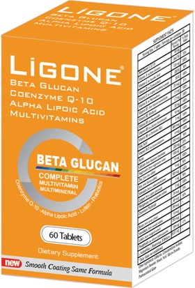 Lıgone 60 Tablet Multivitamin + Multimineral + Beta Glucan + Probiyotik