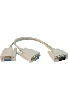 Q Port Q-V2V Vga Çoklayıcı Kablo 1*2