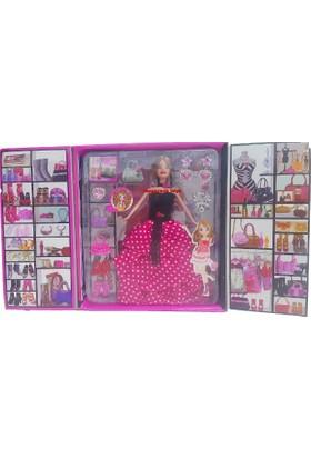 Kılıfkapakdünyası Gardrop Tarz Oyuncak Set Aksesuarlı Bebek Model