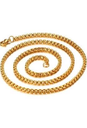 Chavin Gold Sarı 75 Cm. 2 Mm. Erkek Çelik Zincir Dn83