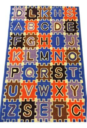 Dilber Çocuk Halısı Mavi-Turuncu 125*200