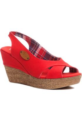 Pierre Cardin Kadın Sandalet Kırmızı