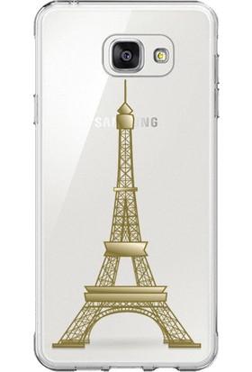 Remeto Samsung S7 Edge Eiffel Kulesi Resimli Şeffaf Silikon Kılıf