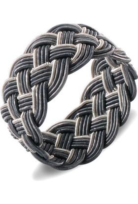 Akyüz Gümüş 1000 Ayar Gümüş El Örmesi Kazaziye Yüzük Ykz012
