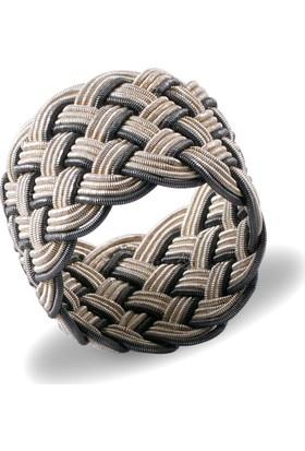 Akyüz Gümüş 1000 Ayar Gümüş El Örmesi Kazaziye Yüzük Ykz015