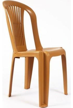 Safran Elit Plastik 6 lı Sandalye Seti Kahve