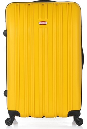UK Polo Club M2 Sarı Büyük Boy Valiz