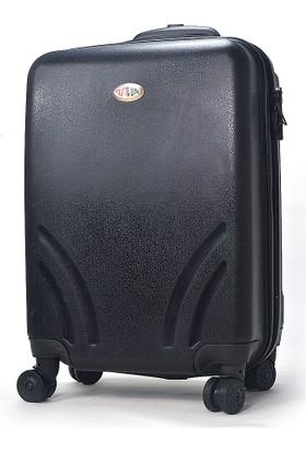 TutQn Basic 2017 Seyahat Valizi Kabin Boy (Siyah Aksesuarlı)