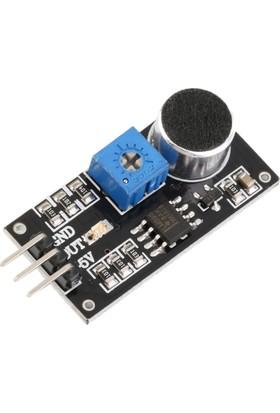Robotekno Arduino Ses Sensörü - Mikrofon Sensörü Ses Algılama Sensörü
