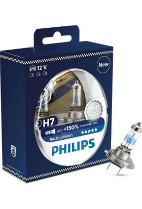 Philips H7 Tip Racing Vision %150 Fazla Işık Ampül Seti 106210
