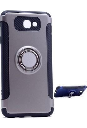 Teleplus Samsung Galaxy J7 Prime Yüzüklü Çift Katmanlı Kapak