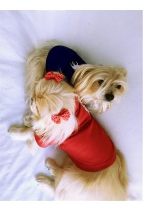 Kırmızı Köpek Gömleği -Kıngs & Queens By Kemique