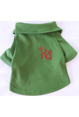Yeşil Köpek Gömleği -Kıngs & Queens By Kemique