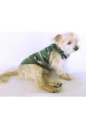 Kamuflaj Yeşil - Atlet - By Kemique - Köpek Kıyafeti - Köpek Elbisesi