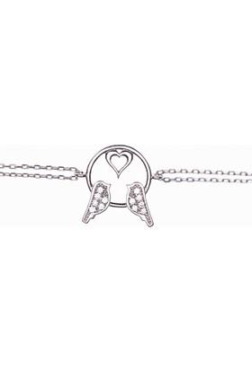 Hayal Gümüş 925 Ayar Zirkon Taşlı Bileklik Aşk Bülbülleri