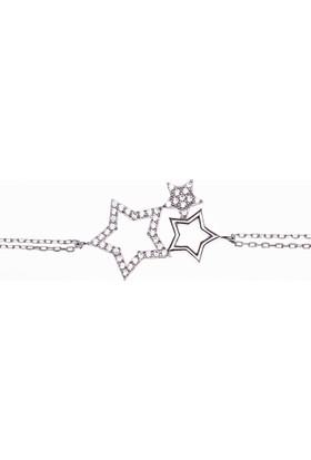 Hayal Gümüş 925 Ayar Zirkon Taşlı Bileklik Yıldızlar