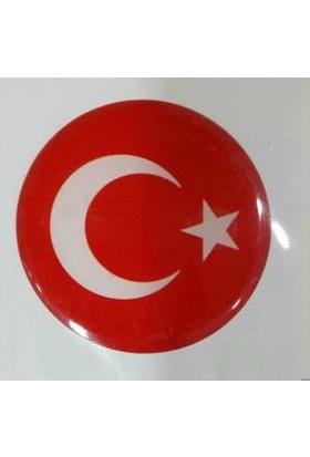 Damla Etiket Türk Bayrağı Kırmızı D12