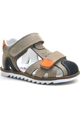 Nino® Cırtlı Ortopedik Kahverengi Erkek Bebek Sandalet