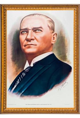 İnter 50x70 Varaklı Duvar Monte Atatürk Portresi INT-030