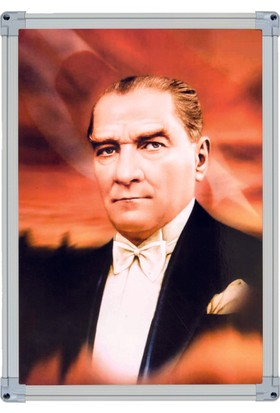 İnter 35x50 Alüminyum Çerceve Duvar Monte Atatürk Portresi INT-824-9