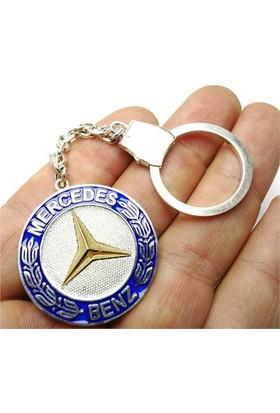 Osmanlı Gümüş Mercedes Benz Gümüş Anahtarlık 21Gr