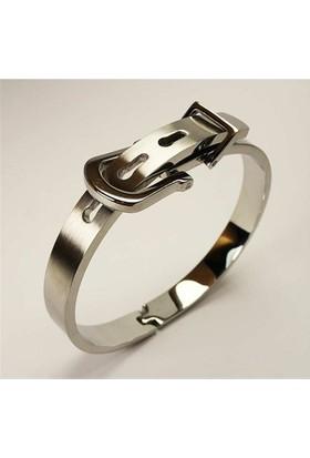 Osmanlı Gümüş Kelepçe Kemer Model Erkek Çelik Bileklik - Farki Kalitesi