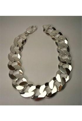 Osmanlı Gümüş İtalyan Gurmet Gümüş Erkek Bileklik Künye Kalin
