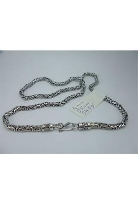 Osmanlı Gümüş Gümüş Kral Erkek Kolye Zincir Kancali 54,5Gr