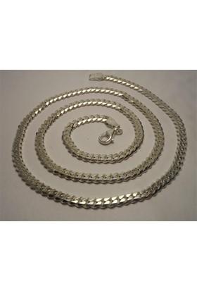 Osmanlı Gümüş Gurmet Erkek Gümüş Kolye Zincir İnce Model 21Gr