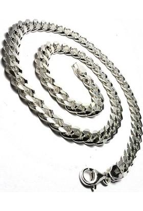 Osmanlı Gümüş Gurmet Erkek Gümüş Kolye Zincir Kalın Model 80G