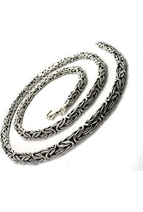 Osmanlı Gümüş Kral Gümüş Erkek Kolye Zincir 53Gr Ortakalinlkta