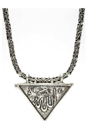 Osmanlı Gümüş Erkek Gümüş Muska Cevşen Haznesi Gümüş Kral Kolyesiyle Birlikte