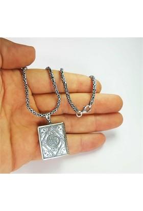 Osmanlı Gümüş Gümüş Cevşen Muska Haznesi Orta Boy