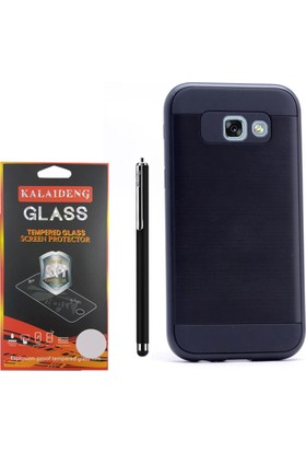 Gpack Samsung Galaxy A5 2017 Kılıf Sert Darbe Emici Katmanlı Case +Kalem+Cam