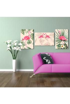 Hepsiburada Home Flamingo 3'lü Kombin Kanvas Tablo-2