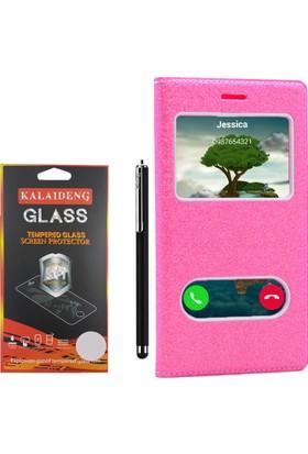 Gpack Samsung Galaxy Grand Neo Kılıf Simli Dolce Case +Kalem +Cam