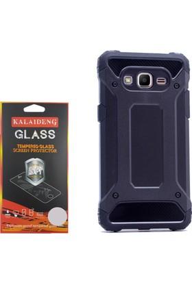 Gpack Samsung Galaxy J2 Prime Kılıf Crash Silikon Sert Case +Cam