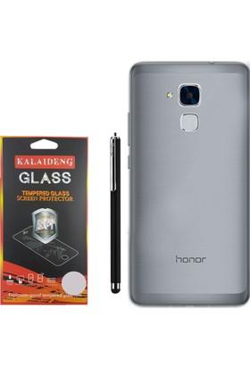 Gpack Huawei Honor 5c Gt3 Kılıf 02mm Silikon Case +Kalem + Cam