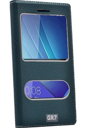 Gpack Huawei Honor 7 Kılıf Çift Pencereli Dolce
