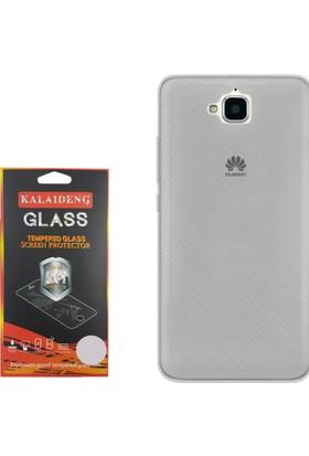Gpack Huawei Y6 2 Pro Kılıf 02mm Silikon Case +Cam