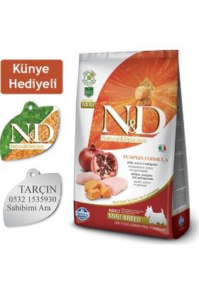 N-D Pumpkin Tahılsız Bal Kabaklı, Tavuk Etli Ve Narlı Ufak Irk Yetişkin Köpek Maması 7 Kg (Künye Hediyeli)