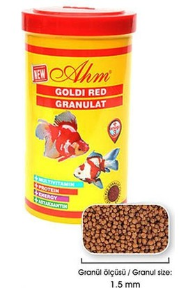 Ahm Goldi Red Granulat Japon Balığı Yemi 250 Ml