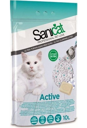 Sanicat Active Aktif Oksijen Içerikli Dezenfektan Sabun Kokulu (Kalın Taneli) Kedi Kumu 10 Lt
