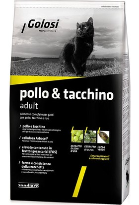 Golosi Cat Pollo&Tacchino Tavuk Ve Hindili Yetişkin Kedi Mamasi 7.5 Kg