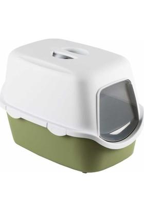 Stefanplast Cathy Kapali Kedi Tuvaleti Yeşil 40X40X56 Cm