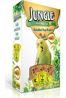 Jungle Muhabbet Kuşlari Için Balli&Meyveli Kraker 10'Lu