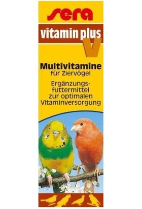 Sera Vitamin Plus V Kuşlar Için Multivitamin Damlasi 15 Ml