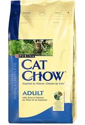 Purina Cat Chow Adult Tuna & Salmon - Ton Ve Somon Balıklı Yetişkin Kedi Maması 15 Kg