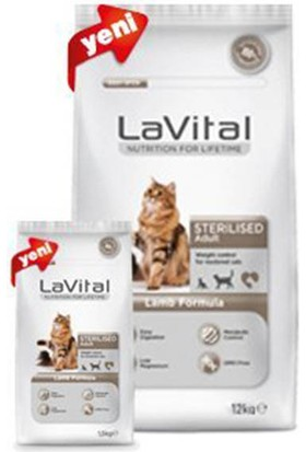 La Vital Cat Adult Sterilised Lamb Kuzu Etli Kısırlaştırılmış Yetişkin Kedi Maması 12Kg