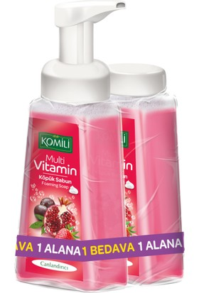 Komili Köpük Sabun M.Vitamin 250 ml + 250 ml